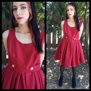 Darling vtg handmade party dress with full skirt!